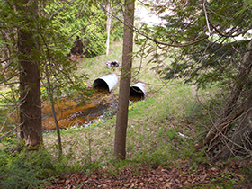 Two undersized culverts will be replaced to reduce and erosion and sedimentation in Belanger Creek.