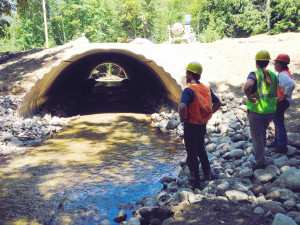 The new culvert